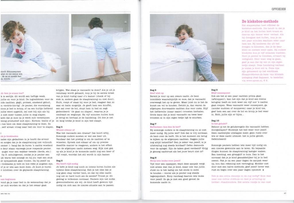 Foto's Marielle Penrhyn Lowe in tijdschrift Ouders van Nu april 2012