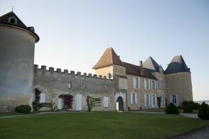 Achteraanzicht van Chateau d'Yquem